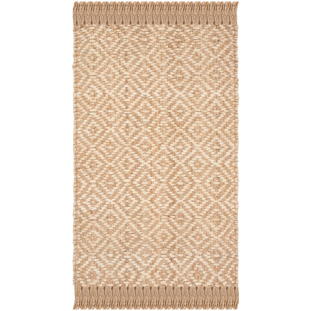 4'X6' Solid Woven Area Rug Ivory/Natural - Safavieh