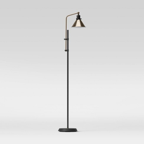 Adjustable Floor Lamp (Includes LED Light Bulb) Black - Threshold™ - image 1 of 4