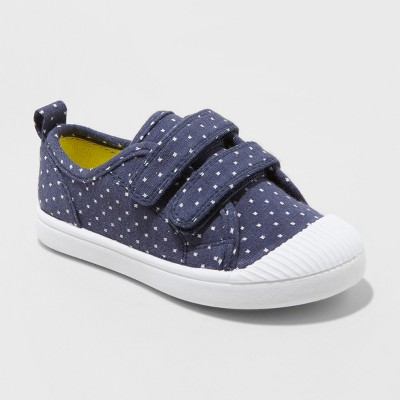 Toddler Girls' Madge Adjustable East Close Sneakers - Cat & Jack™ Navy 5