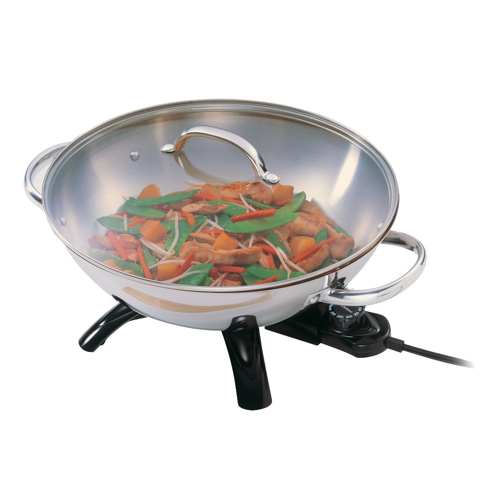 Image of Presto Stainless Steel Electric Wok- 05900