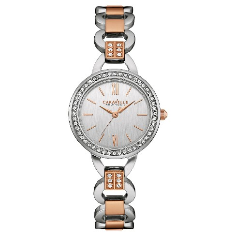 Caravelle New York by Bulova Women's Two-Tone Rose Gold Stainless Steel Bracelet Watch- 45L157 - image 1 of 1