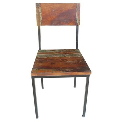 Old Reclaimed Wood And Metal Chair   (Set Of 2)   Timbergirl