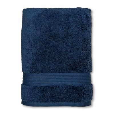 Spa Solid Bath Towel Metallic Blue - Fieldcrest®