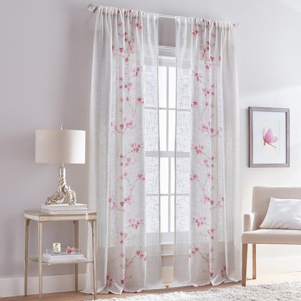 Image of 108 Michiko Poletop Curtain Panel Blush
