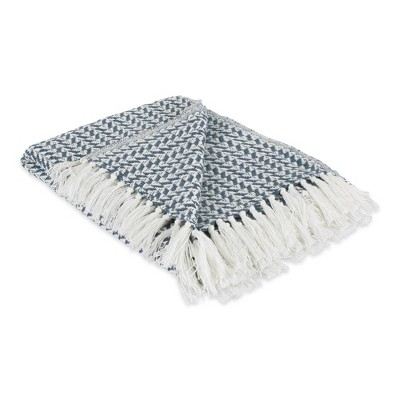 Arrowhead Throw Blanket French Blue - Design Imports