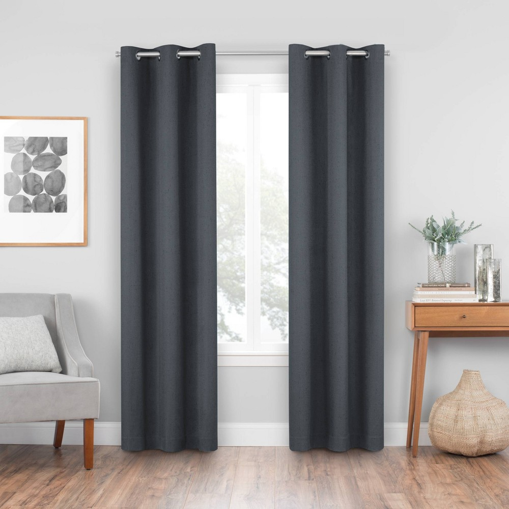 42 34 X 84 34 Windsor Blackout Curtain Panel Charcoal Eclipse