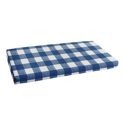 "19"" x 60"" Anderson Indoor Outdoor Bench Cushion Bristol Zaffre Blue - Sorra Home"