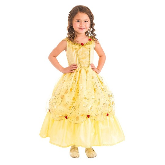 Little Adventures Girls' Yellow Beauty Dress - XL image number null