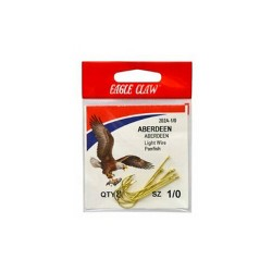 Eagle Claw Gold Abrdn Hooks 10Pk Size1