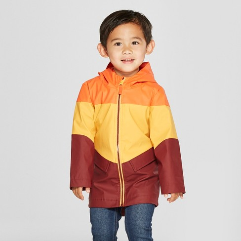 Toddler Boys' Colorblock Rain Jacket - Cat & Jack™ Yellow - image 1 of 3