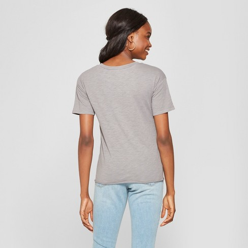5f465bc2179e79 Women s Short Sleeve Champagne Graphic T-Shirt - Fifth Sun Charcoal   Target