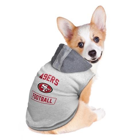 San Francisco 49ers Little Earth Pet Hooded Crewneck Football Shirt ... 7087a80ac