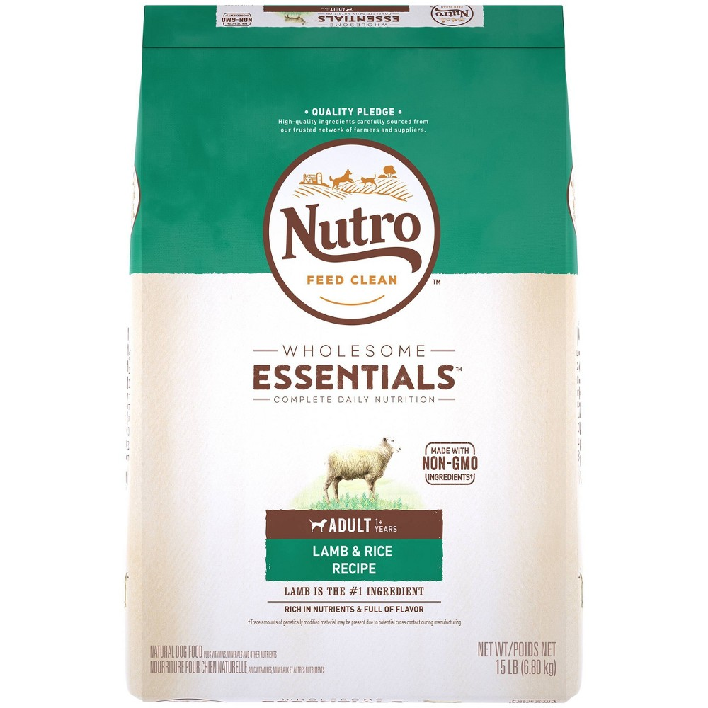 Nutro Wholesome Essentials Pasture Fed Lamb 38 Rice Recipe Adult Dry Dog Food 15lbs
