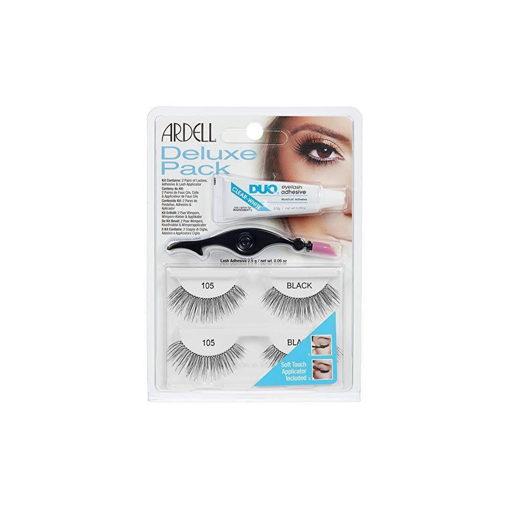Image of Ardell Eyelash 105 Deluxe Kit Black - 2ct