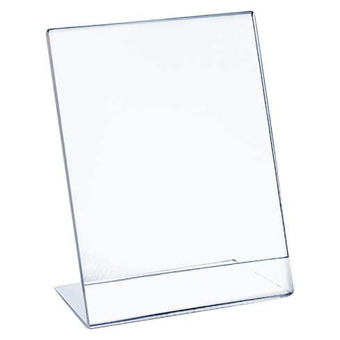 "Azar® 11"" x 17"" L-Shaped Acrylic Sign Holder 10ct - image 1 of 1"