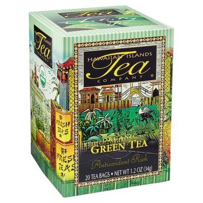 Hawaiian Island Tea Company Organic Green Tea - 20ct