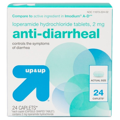 Loperamide Anti-Diarrheal Caplets - Up&Up™ (Compare to active ingredient in Imodium A-D) - image 1 of 4