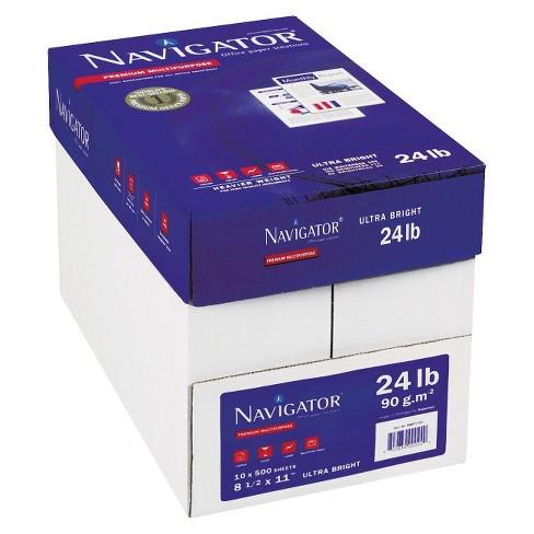 Navigator Platinum Paper 99 Brightness 24 Lb White 2500 Per Carton Target