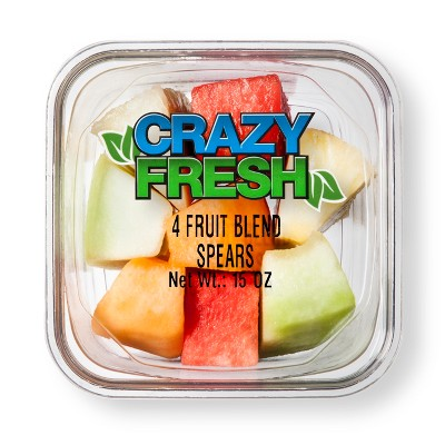 Crazy Fresh Four Fruit Blend Spears - 15oz