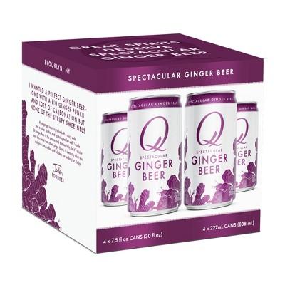 Q Drinks® Ginger Beer - 4pk / 7.5 fl oz Cans