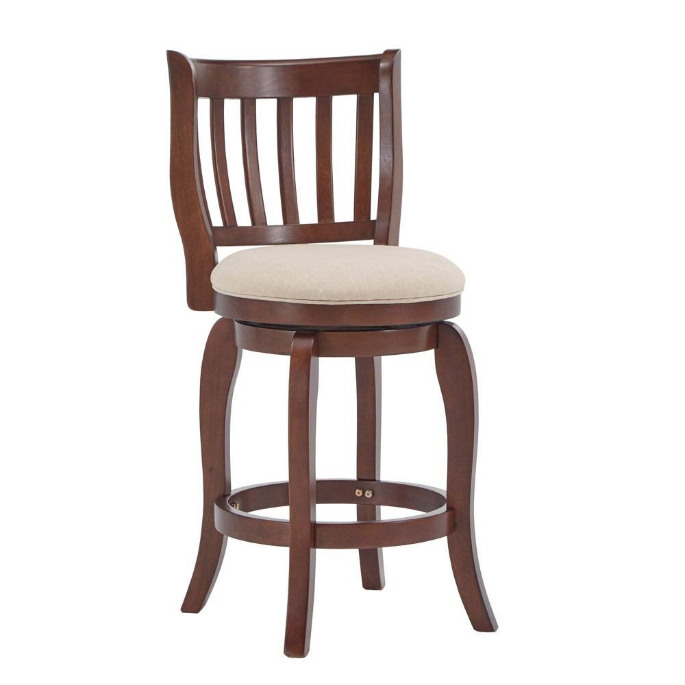 """Image of """"24"""""""" Tracee Swivel Counter Stool Oatmeal Brown - Inspire Q"""""""