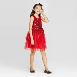 Girls' Sequin Dress - Cat & Jack™ Red