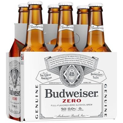 Budweiser Zero Non-Alcoholic Beer - 6pk/12 fl oz Bottles