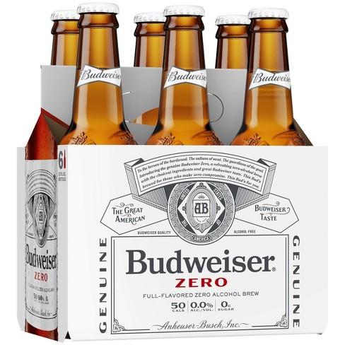 Budweiser Zero Non-Alcoholic Beer - 6pk/12 fl oz Bottles - image 1 of 1