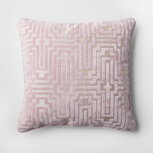 Pink Velvet Geometric Throw Pillow - Project 62™   Target 81d8fb45be32