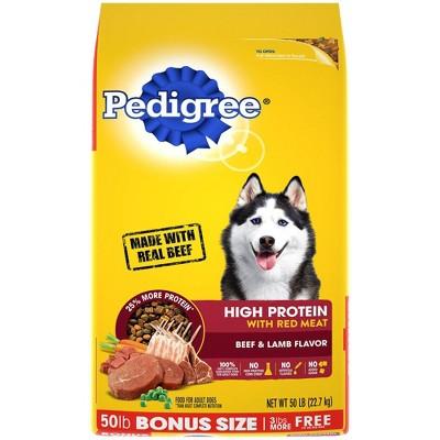 Pedigree High Protein Beef & Lamb Flavor Adult Complete & Balanced Dry Dog Food