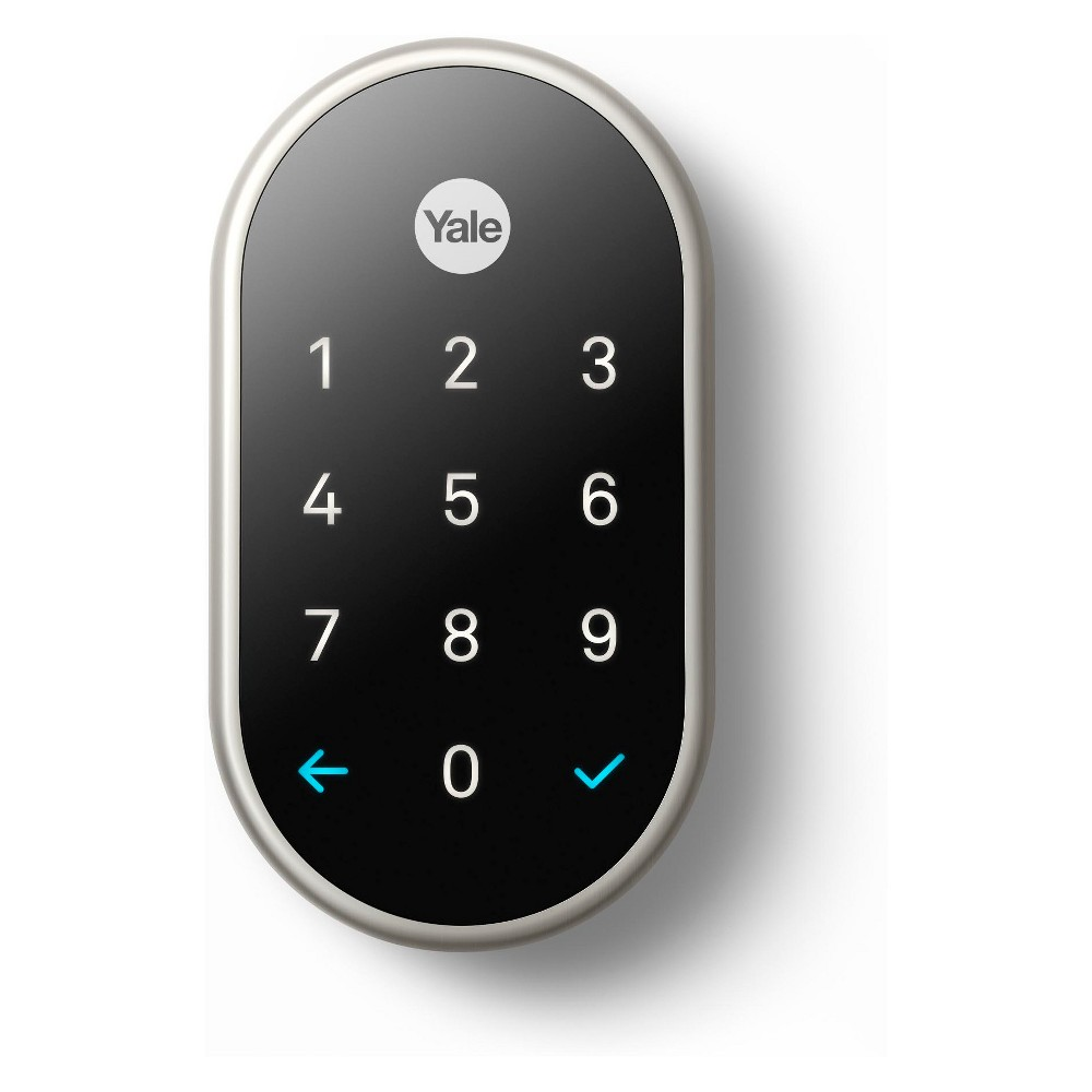 Google Nest x Yale Lock (Satin Nickel) with Nest Connect, Silver