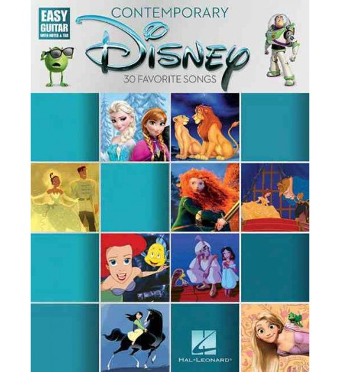 Contemporary Disney : Easy Guitar With Notes & Tab (Paperback) - image 1 of 1