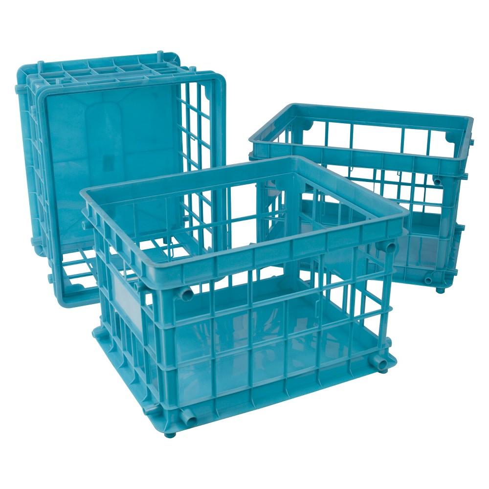Storex File Crate Standard Letter 3ct - Blue