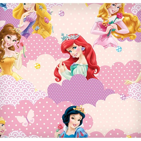 "Disney I Am A Princess Clouds, Yellow, Fleece, 59/60"" Width, Fabric by the Yard - image 1 of 1"