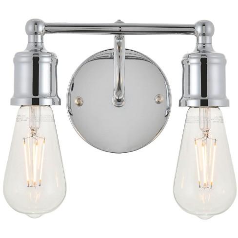 Elegant Lighting Ld4028w9 Serif 2 Light 9 Wide Bathroom Vanity Light Chrome Target