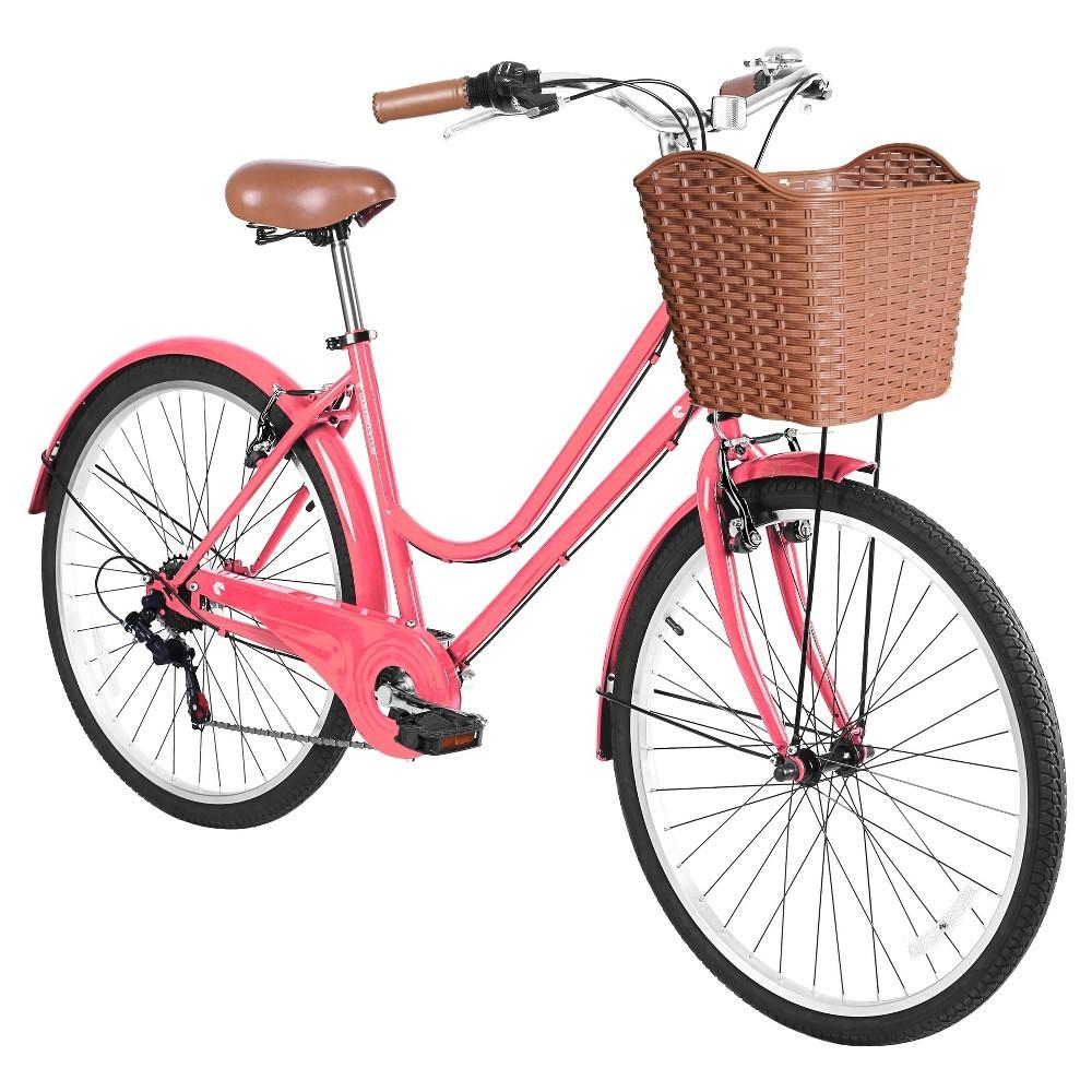 Gama Women's City Basic 26 Premium Hybrid Bike - Light Pink
