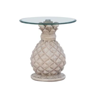 Pamella Pineapple Side Table Gray - Powell Company