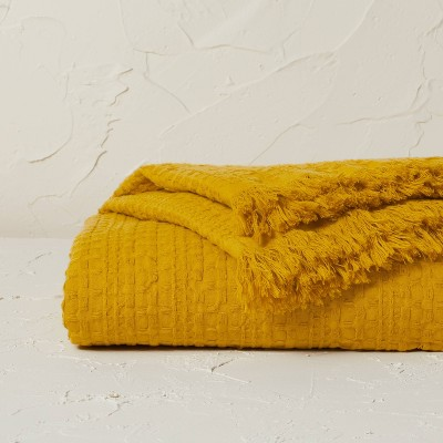 Oversized Waffle Weave Bed Throw - Opalhouse™ designed with Jungalow™
