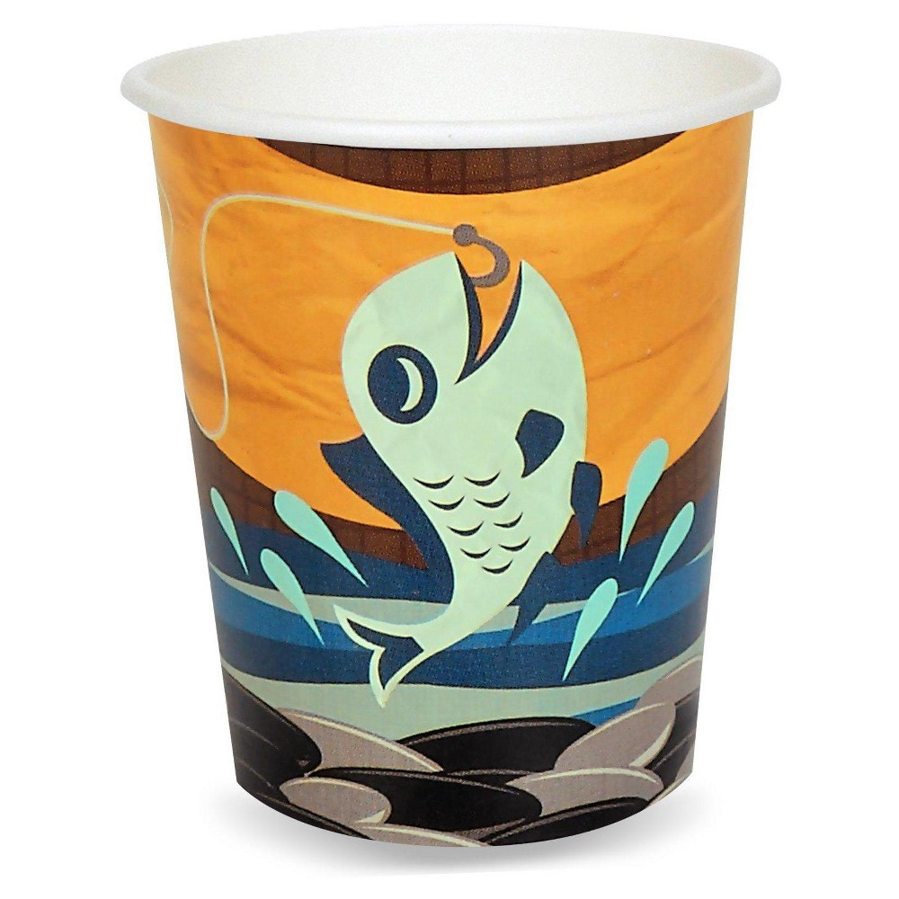 48ct Let's Go Camping - 9oz Cup, Multicolored