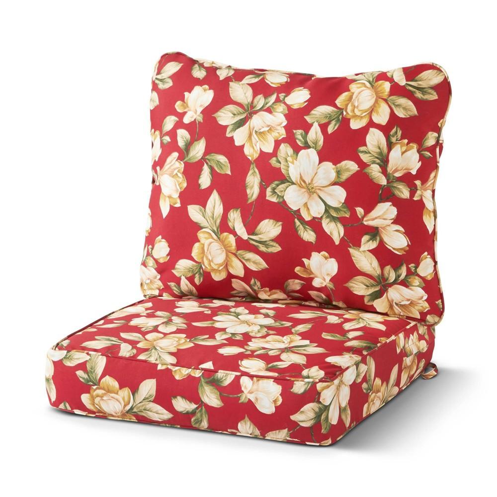 Image of 2pc Outdoor Deep Seat Cushion Set Roma Floral - Kensington Garden