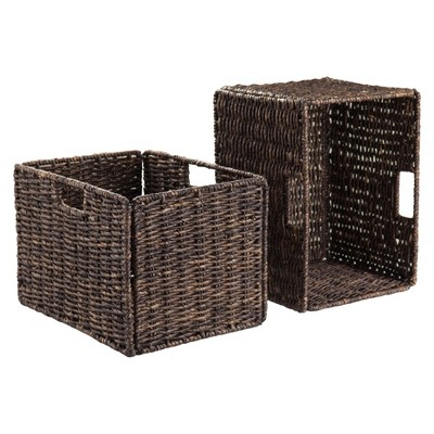 Granville 2 Piece Set Tall Baskets - Chocolate - Winsome