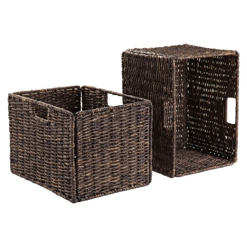 Granville 2 Piece Set Tall Baskets   - Chocolate - Winsome - image 1 of 3