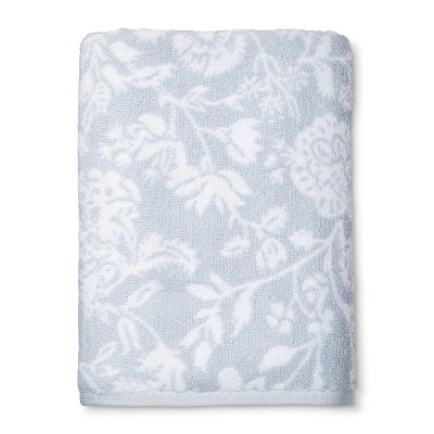 Bath Towel Performance Texture Bath Towels And Washcloths White Hyacinth - Threshold™