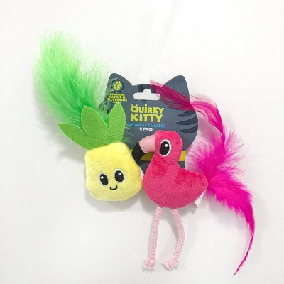 Quirky Kitty Pineapple & Flamingo Cat Toy