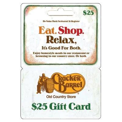 Cracker Barrel - $25