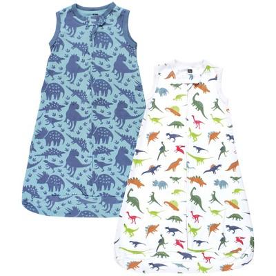 Hudson Baby Infant Boy Interlock Cotton Sleeveless Sleeping Bag, Dinosaurs