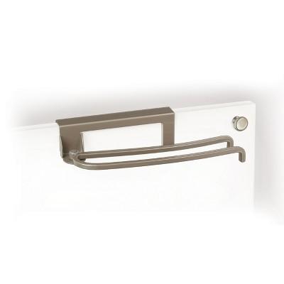 Lynk Professional Over Cabinet Door Pivoting Towel Bar Satin Nickel