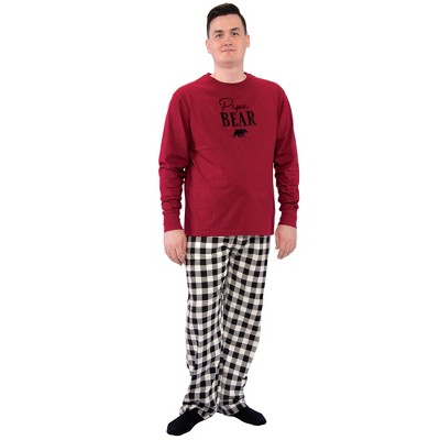 Touched by Nature Mens Unisex Holiday Pajamas, Men Bear