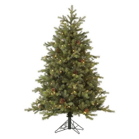 6ft Pre-Lit LED Artificial Christmas Tree Full Rocky Mountain Bark Pine -  Warm White Lights - 6ft Pre-Lit LED Artificial Christmas Tree Full Rocky Mountain Bark