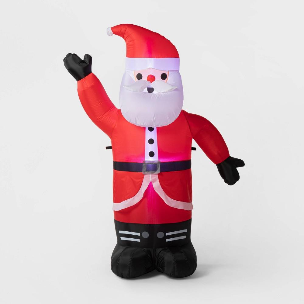 Image of 6' Christmas LED Santa Inflatable Holiday Decoration - Wondershop